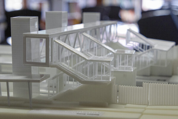 tactile model of the proposed upgrades to Fairfield station